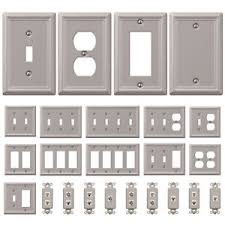 brushed nickel outlet covers. Interesting Outlet Image Is Loading WallSwitchPlateOutletCoverToggleDuplexRocker Throughout Brushed Nickel Outlet Covers