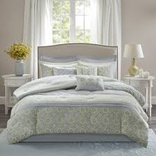 gray and yellow bedding. Beautiful Yellow Madison Park Cosette Grey And Yellow 9 Piece Cotton Percale Comforter Set For Gray And Bedding B
