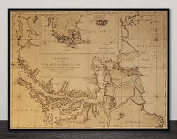 A Chart Of The Straits Of Magellan 1775 Old Map Card 9
