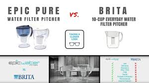 brita water filter pitcher.  Water COMPARE Brita Vs Epic Pure Water Filter Pitcher Jug Intended