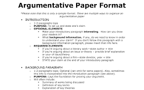 argument and persuasive essay outline