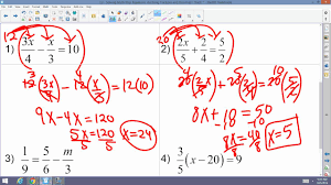 algebra 2 accelerated 3 2 solving multi step equations involving fractions and decimals