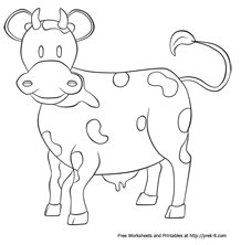 Farm Animal Coloring Pagessimple Coloring Pictures