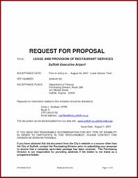 Proposal Letter Template Letter Proposal Catering Rent Roll