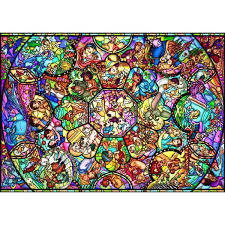 disney all stars stained glass jigsaw puzzle