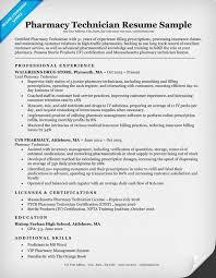 Pharmacist Sample Resume Pharmacy Tech Resume Pharmacy Technician Resume Sample Tips