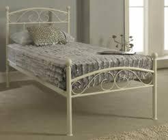 sareer devon white metal bed frame