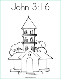 John 3 16 Coloring Page Dreadeorg