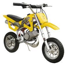 49cc 50cc yellow 2 stroke gas motorized mini dirt pit bike