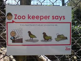 zoo exhibit sign. Modren Zoo Image Titled Donu0027t Feed The Animals In Zoo Exhibit Sign L