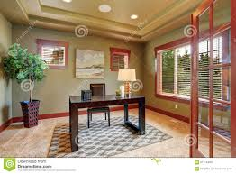 Paint for home office Wall Luxury Home Office With Green Interior Paint Dreamstimecom Luxury Home Office With Green Interior Paint Stock Image Image Of