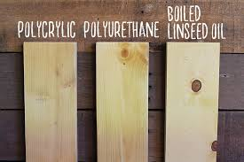 polyurethane vs polycrylic vs boiled linseed oil how to sand prep and stain wood