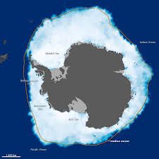 antarctic ice sheet growing nasa opposite behaviors arctic sea ice shrinks antarctic grows