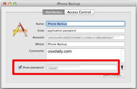 show lost iphone backup password