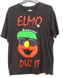 Pacsun Size Chart Mens New Pacsun Mens Sesame Street Elmo Duz It Cotton Graphic Tee T Shirt Size Large Cartoon T Shirt Men Unisex New Fashion Tshirt
