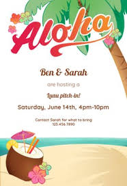 Hawaiian Pool Party Invitations Luau Party Free Luau Party Invitation Template Greetings Island
