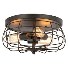 light cage flush mount ceiling light 3fi8y