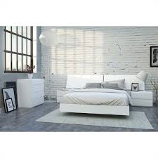 5 Piece Queen Bedroom Set in White Lacquer and Melamine - 400662-SET