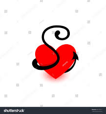 S P 500 Vs 10 Year Treasury Chart Logo Heart Letter S Beautiful Vector Stock Vector Royalty