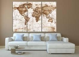 xl world map wall art canvas print push