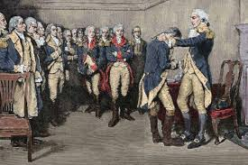 Image result for 1783 Washington bids farewell