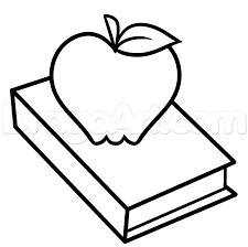 how to draw a teachers apple step 4