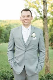 Groom Light Grey Suit Groom In A Light Grey Suit Elegant Wedding Style Classy
