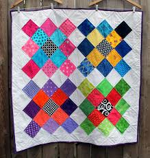 The joy of 5 inch squares. | WOMBAT QUILTS & modern large granny square quilt Adamdwight.com