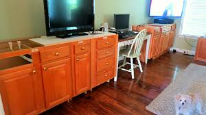 Home Built Kitchen Cabinets Remodelaholic Build A Wall To Wall Built In Desk And Bookcase