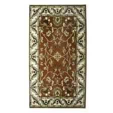 hand tufted wool area rug fl persia 5x8 brown