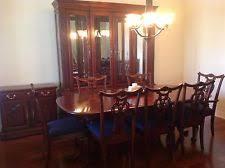 cherry wood heirloom pennsylvania house dining room set w lighted buffet server