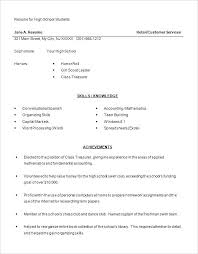 Resume Template Examples Resume Template For High School Student A For Students With No ...