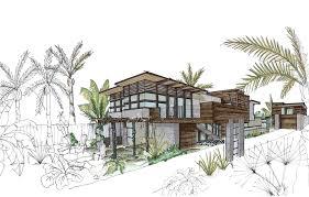 modern architecture sketch. De La Costa Residence - Santa Cruz, CA Rendering Sketch Modern Architecture U