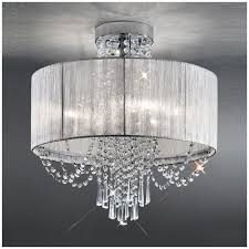 crystal pendant lighting. FL2303/6 Empress 6 Light Semi Flush Crystal Pendant Lighting U