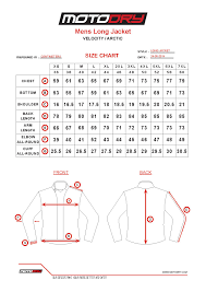 Jacket Length Chart Motodry Sizing Chart Alessi Motorcycles