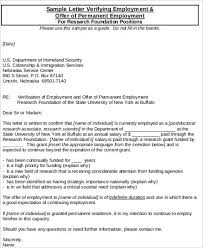 Letter Of Verification Of Employment Sample Proof Of Employment 5 Examples In Word Pdf