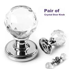 Image Emtek Modern Large Crystal Glass Ball Door Knobs Internal Mortice Polished Chrome Door Handle Ebay Pair Large Crystal Glass Door Knobs Handle Internal Mortice