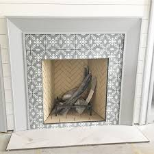 beautiful tile to outline fireplace