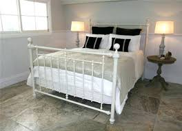 White Wrought Iron Bed White Wrought Iron Bed Frames Queen Size ...
