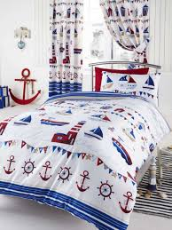 Nautical Childrens Bedroom Kids Bedroom With Nautical Bedding Sets And White Walls Using