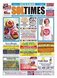 Sol Times Newspaper Issue 329 Costa Almeria Edition By Nigel