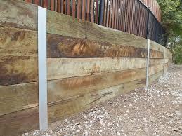 australian retaining walls timber