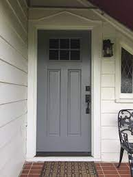 replacing a wood door with fiberglass