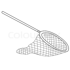 fishing net clipart black and white. Plain Black Black Outline Vector Fishing Net On White Background  Stock Vector  Colourbox Intended Fishing Net Clipart And White B
