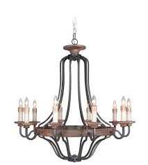 10 light chandelier inch textured black and whiskey barrel ceiling fabrice crystal
