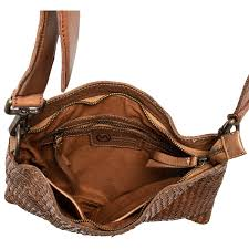 valentina made in italy woven leather cross bag small for women