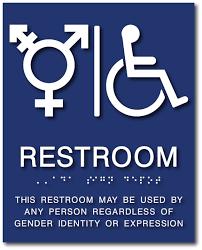 Handicap Bathroom Signs Unique TransAll Gender And Wheelchair Symbol Restroom ADA Signs ADA Sign