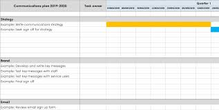 Comms Planner Template Charitycomms