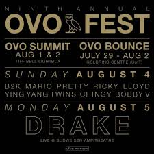 Ovo Fest At Budweiser Stage Canada On 5 Aug 2019 Ticket