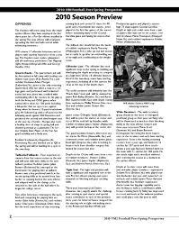 2010 Vmi Football Post Spring Prospectus By Christian